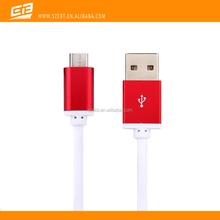 2015 New design Aluminium Alloy nylon Braided round Micro USB Sync Data Charger Cable for Android Phones