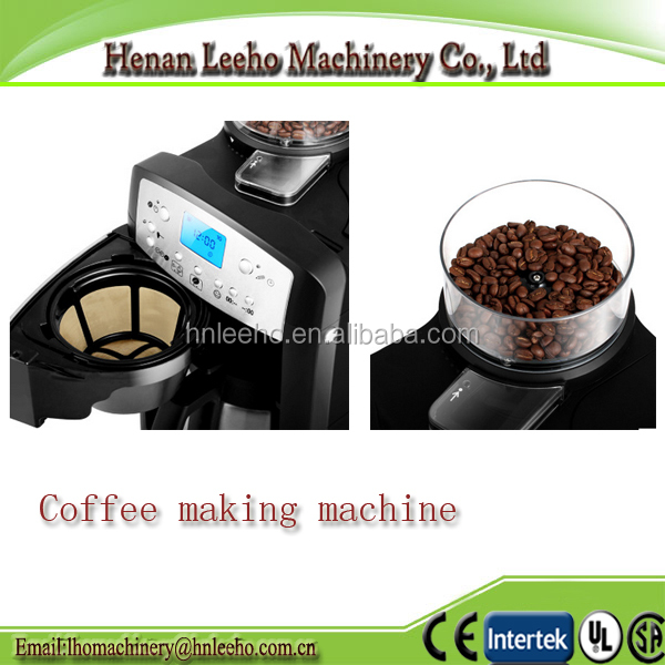 easy operate fully automatic coffee grinding machine . coffee maker