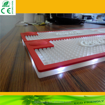 2016 hot new LED light bar mat, best quality PVC led bar mat with factory price for promotional gift