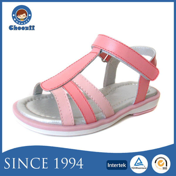 Choozii 2016 Action Leather Little Girls Fancy Sandals with Open Toe Design