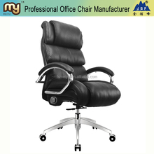 High back executive chair with casters and aluminum alloy base- MY084