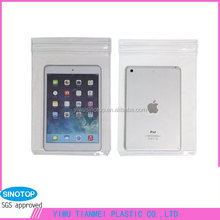 Factory transparent zipper pvc waterproof cases for tablet pc