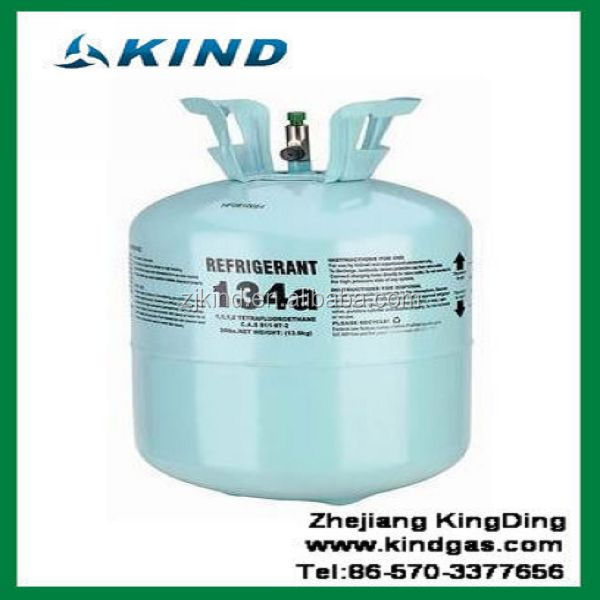 high quality 13.6kg/30lbs disposable cylinder packing 99.9% pure <strong>r134a</strong> refrigerant gas for air condition