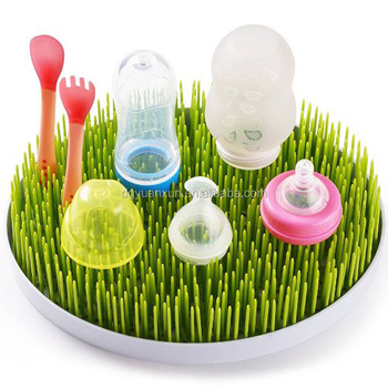 Custom Cheap Baby Bottle Accessories Drying Rack Plastic Grass Drying Rack