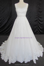 Tulle Ruched Asymmetrical Modest Bridal Gown