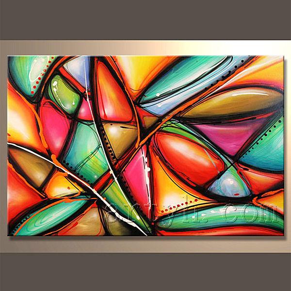 Le plus r cent style peinture l 39 huile moderne sur toile peinture et cal - Peinture a l huile moderne ...