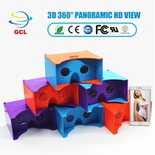 US$1.85 new mobile phone gift assembled portable plastic DIY VR cardboard 3d glasses virtual reality 360 video,vr box 4.0