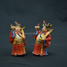 A fat red cloth man traditional chinese God of Wealth resin crafts