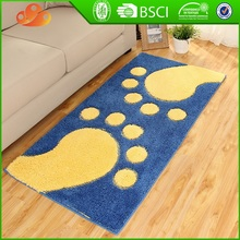 2017 Durable decorative rubber backed machine washable rugs