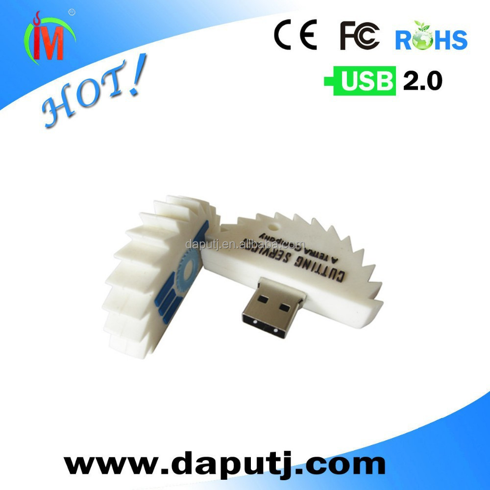Custom Logo PVC Gear usb pen drive