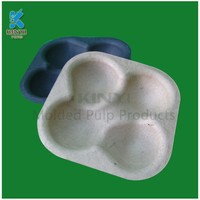 New design custom disposable blister packaging paper pulp fruit tray