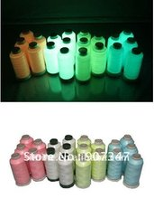 New Hot 150D/2 Glow in the dark thread,moon glow thread,100% polyester embroidery thread
