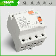 TORC1-63 4P 63a 50/60hz Residual Current Circuit Breaker with earthleakage protection, pin/fork busbar connection, DIN rail