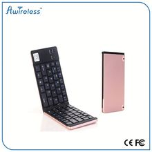 High quality OEM ultra-thin mini portable Bluetooth folding Keyboard 3.0 for iPad Air 2
