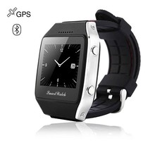 "Vogue phones 1.65"" Capacitive touchscreen GPS Tracker cheap smart hand watch bluetooth watch mobile phone"