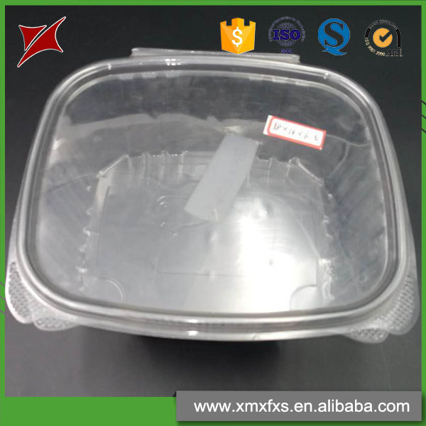 Disposable transparent plastic fresh vegetable fruit packaging container
