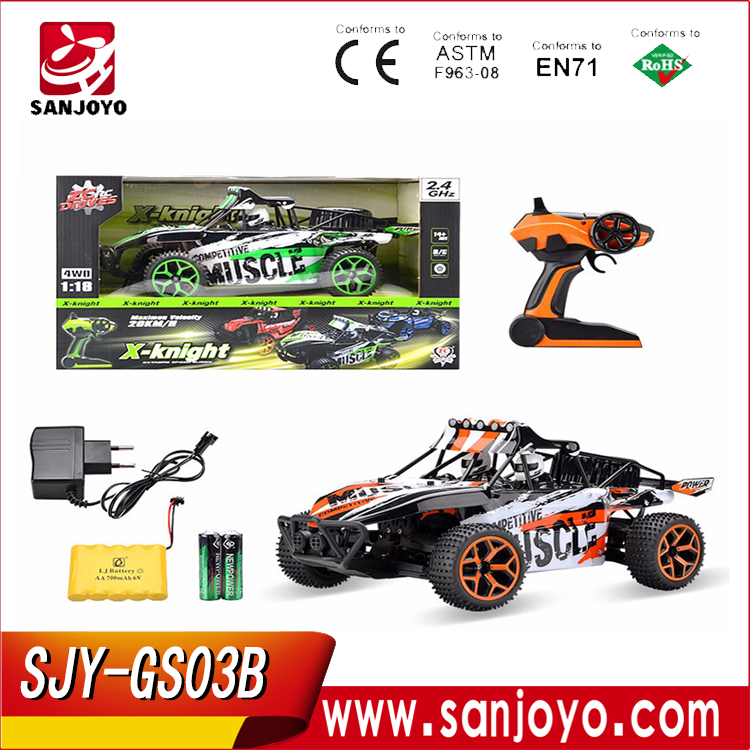 2.4G RC Car High-speed Drift Vehicle 1:18 Bigfoot Monster Remote Control Car 4WD off road 4ch Racing Car Boy Toys Original Box