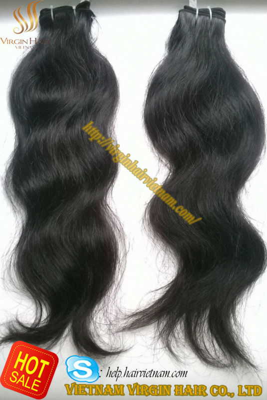 New product 2014 innovation 100% virgin natural body wavy hair styling products in Vietnam