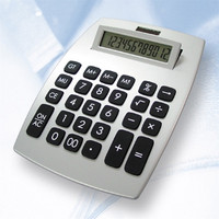 12 digital solar power desktop calculator