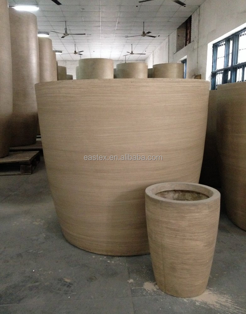 large fiberglass clay outdoor tree pot