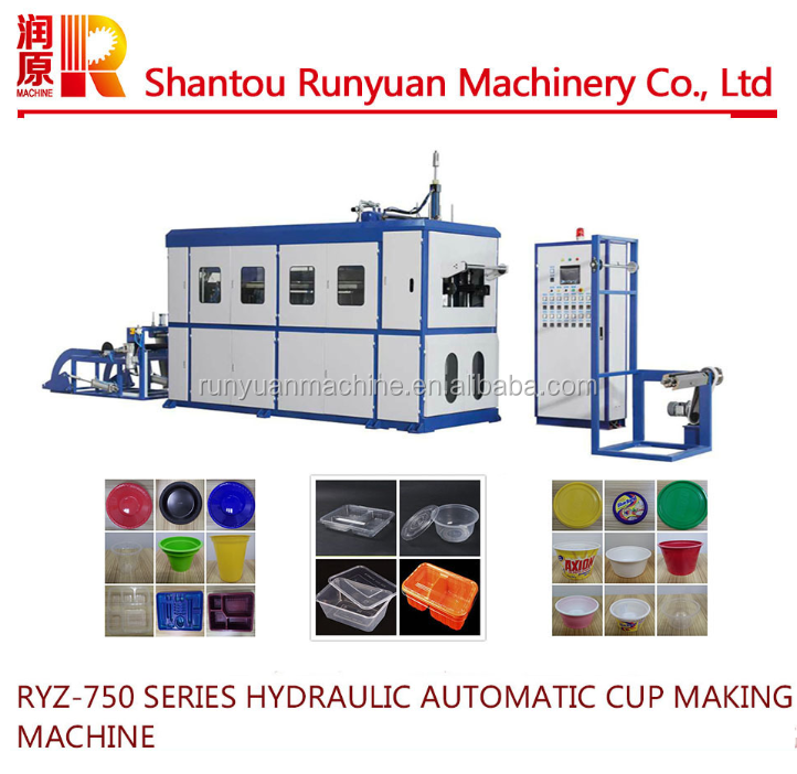 RYZ-750 Plastic Cup Making Machine Price Plastic Cup Thermoforming Machine