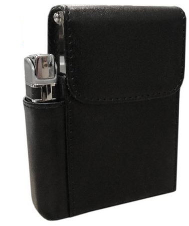 new design metal cigarette case with lighter holder pouch