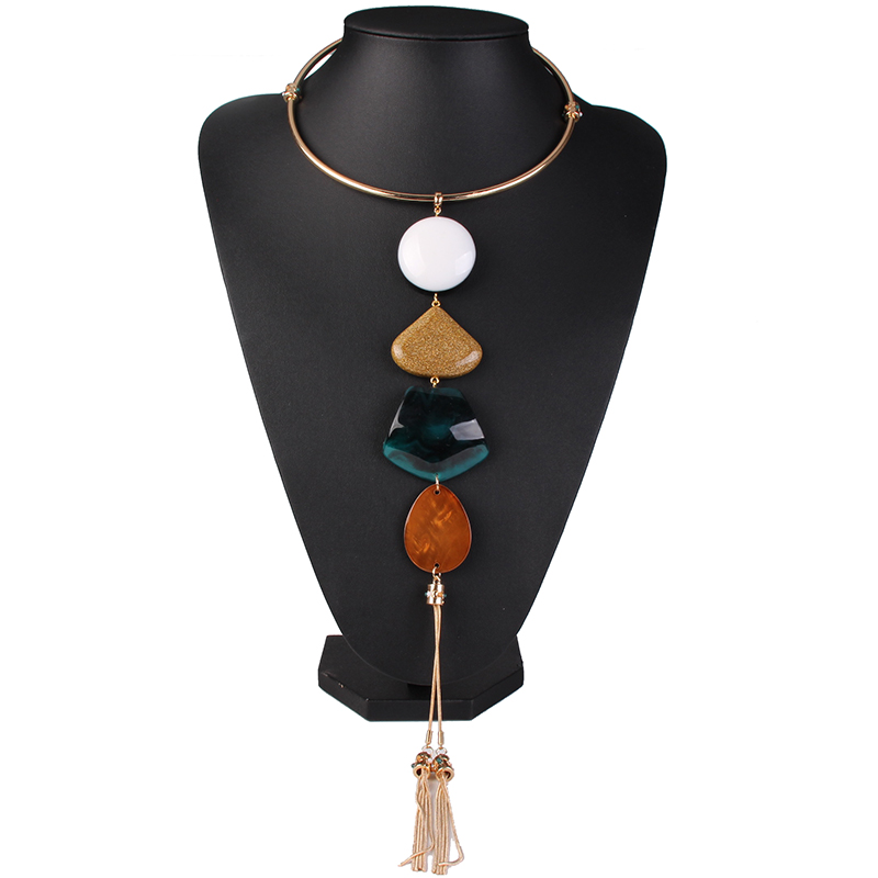 wholesale jewlery Mexico and America punk long chain pedant necklace 31203