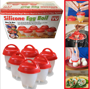 Hot sells microwave rapid eggies silicone hard boiled egg cooker,egg cooker hard,6 pieces egg boiler cooker set