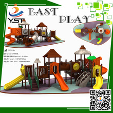 Children attractive plastic curved slide playground slides