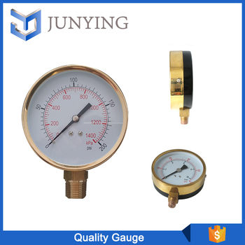 China supplier quality Air Pressure Gauge Black Plated Steel