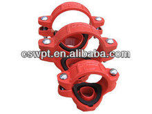 High Quality Ductile Iron grooved fittings and pipe clamps FM& UL certificate