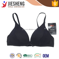 New model bra quadrangle cup black white color lace bra