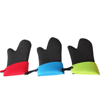 Fashionable branded oven gloves with fingers