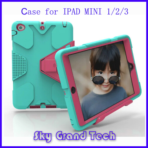 2 IN 1 Shockproof Personalized Stylish Cool Case for Ipad Mini3 Hybrid Hard Cover