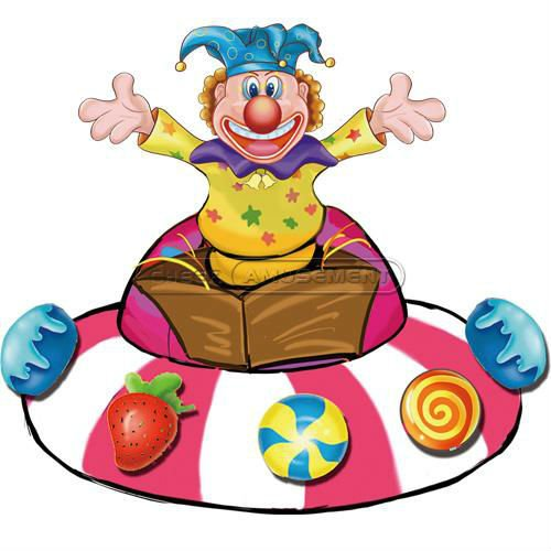 Cheer Amusement Clown rotation interaction Inflatable Toy for kids