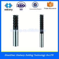 6 Flute High Quality Carbide Square End Mill HRC45/ Carbide Endmill 6 mm