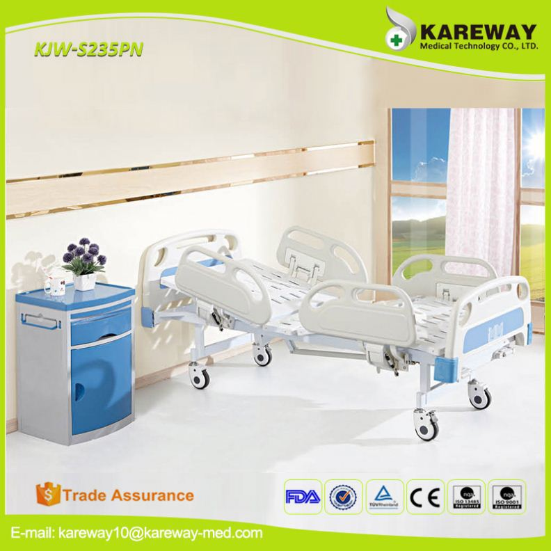 Factory wholesale L2100*W980*H490 mm 2 cranks hospital bed for middle east