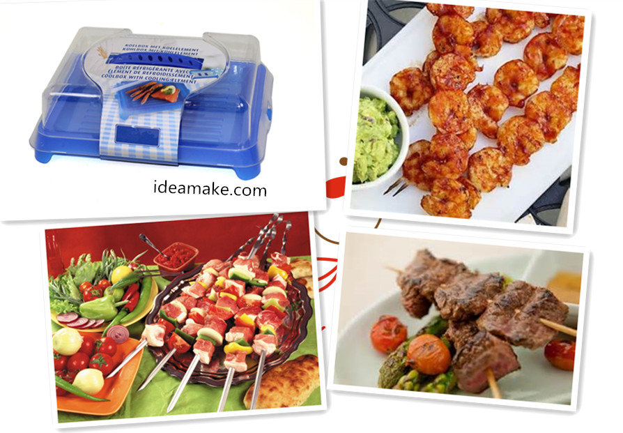 Cool Box Food Storage Box with Ice Pack made from Plastic for Food and Fish 2015 new product