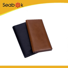 New designer Men's Fashion Genuine Leather Bifold Wallet men's birthday gifts clutch credit card holder business purse