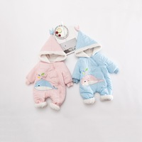 S11580B 2018 Autumn Winter Coat Jumpsuit Baby Clothing Newborn Snowsuit Boy Warm Romper Down Cotton Jackets Girl Snow Clothes