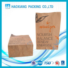 Gravure Printing Custom logo printed flat bottom kraft paper fast food packaging