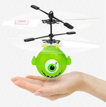 Mini flyer Cartoon flying balls rc birds with LED light