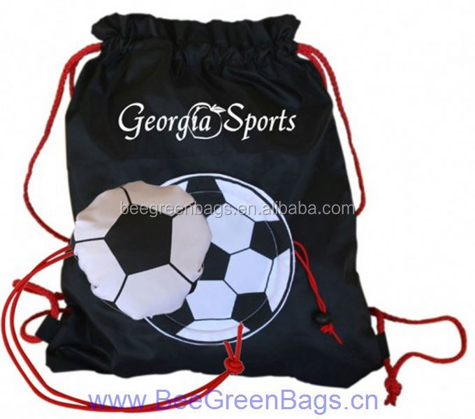 2014 fashion hot cheap football drawstring backpack shopping bag