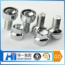 oem high quality stainless steel with chrome plated anti-theft bolt and nut