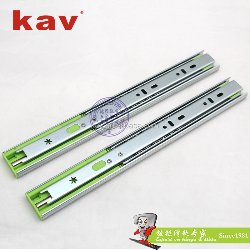 350H 35mm soft closing ball bearing drawer slide rail drawer track roller