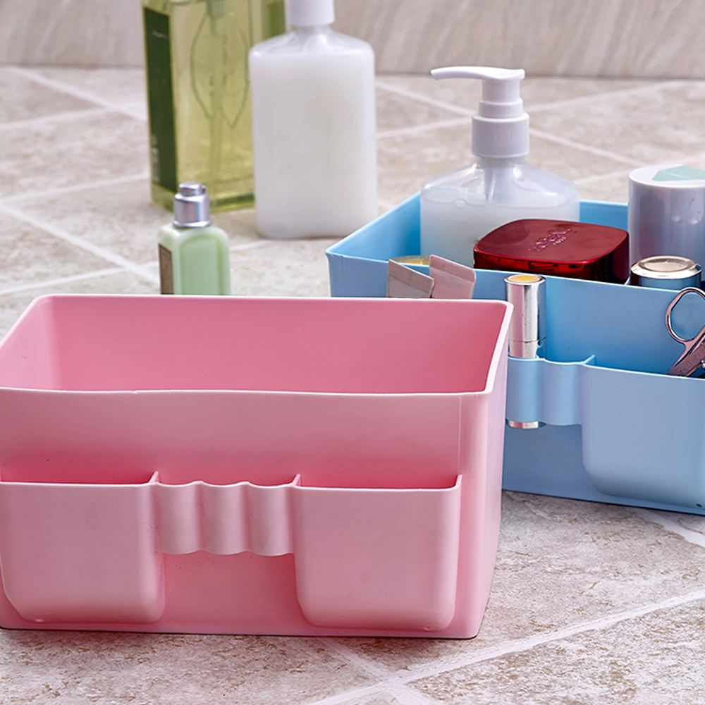 Fashion Make Up Organizer Multi-use Cosmetic Bathroom Organizer Storage Box Drawer Plastic Makeup Storage Container