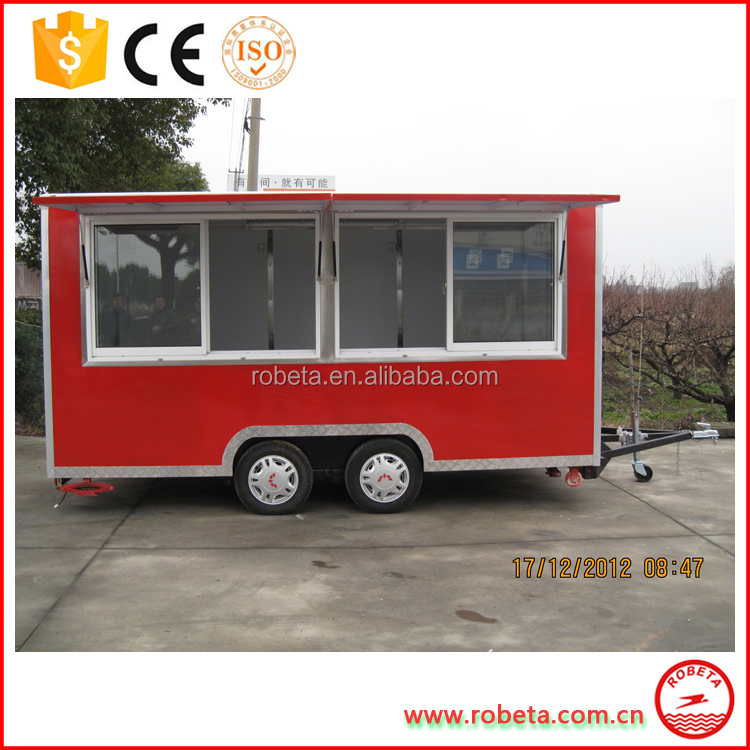2017 hot new products motorcycle food cart food cart trailer chinese food truck