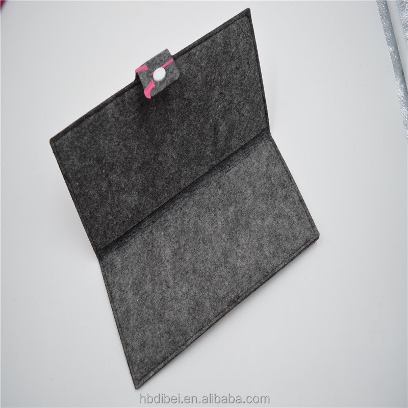 Promotion lovely and durable felt fabric purse manufacture for sale