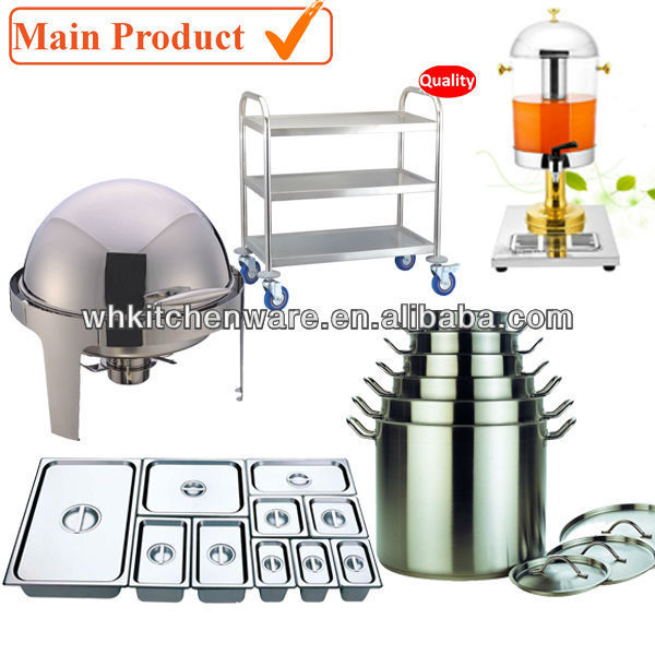 Chafer, Stock Pot, Sauce Pan, GN Pan and More Commercial cooking equipment