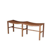 leisure wooden chair /wood chair models/ waves completely real wood bench chair